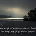 Breaking The Darkness The Lord My Light My Salvation Scripture Art by Reid Callaway