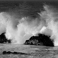 Breaking Wave At Pacific Grove by James B Toy