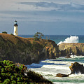 Breaking Waves At Yaquina Head Lighthouse by James Eddy