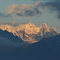 Breathtaking View Of The Italian Alps With A Cloudy Sky  by DejaVu Designs