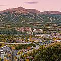 Breckenridge Panorama At Twilight - Fall Season Rocky Mountains Colorado by Silvio Ligutti