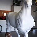 Breeders Cup 2017 Art Of The Horse Life Size Fiberglass Horse Statue by Tish Wynne