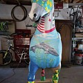 Breeders Cup Fiberglass Horse Front by Tish Wynne