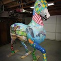 Breeders Cup Fiberglass Horsefront Right by Tish Wynne