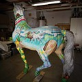 Breeders Cup Fiberglass Horseleft Back by Tish Wynne