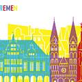 Bremen Skyline Pop by Pablo Romero