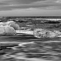 Brethamerkursandur Iceberg Beach Iceland 2155 by Bob Neiman