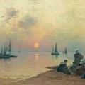 Breton Coastal Landscape At Sunset by MotionAge Designs