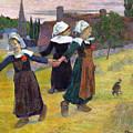 Breton Girls Dancing Pont-aven by Gauguin