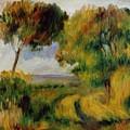 Breton Landscape Trees And Moor 1892 by Renoir PierreAuguste