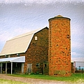 Brick Barn And Silo by Bonfire Photography