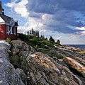 Brick Bell House At Pemaquid Point Light by Joy Nichols