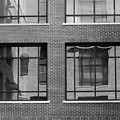 Brick Building Black And White by Jill Reger