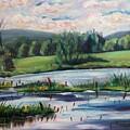 Brick Pond Afternoon by Richard Nowak