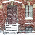 Brick Rowhome In Snow by SR Green