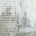 Brick Texture White Paint Dripping Grunge Background by James BO Insogna