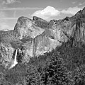 Bridalveil Falls From Tunnel View B And W by Joyce Dickens