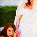 Bride And Bridesmaid by Les Palenik
