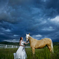 Bride And Horse With Storm by Nick Sokoloff