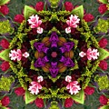 Bride's Maids Boquet Kaleidoscope by Pamela Picassito
