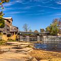 Bridge And Creek In The Fall by Douglas Barnett