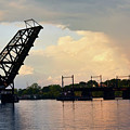 Bridge And Rainbow Over Seekonk River by Garrett Sheehan