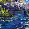 Bridge And Water Lillies by George Markiewicz
