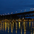 Bridge At Night In Vancouver by Jacob Stempky