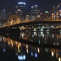 Bridge In The Heart Of Pittsburgh by Frozen in Time Fine Art Photography