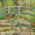 Bridge Over A Pond Of Water Lilies by Peter Barritt