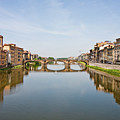 Bridge Over Arno River In Florence Italy by Darryl Brooks