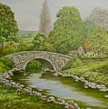 Bridge Over Stream by Val Stokes