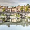 Bridge Over The River Tevere, Rome, Italy by Sanchez PhotoArt
