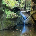 Bridge Over Waterfall by Larry Ricker