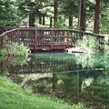 Bridge Pond Watercolor by Frank Wilson