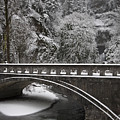 Bridges Of Multnomah Falls by Wes and Dotty Weber