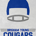 Brigham Young Cougars Vintage Football Art by Joe Hamilton
