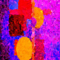 Bright Colours Abstract by Clive Littin