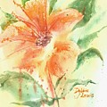 Bright Orange Flower by Debbie Lewis