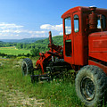 Bright Red Antique Grader by Roger Soule