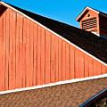 Bright Red Barn by Marilyn Hunt