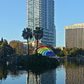 Bright Spot In Downtown Orlando by Denise Mazzocco