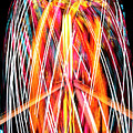 Brightly Colored Abstract Light Painting At Night From The Fireb by Reimar Gaertner