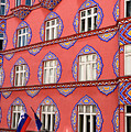 Brightly Colored Facade Of Cooperative Business Bank Building Or by Reimar Gaertner