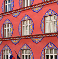 Brightly Colored Facade Vurnik House Or Cooperative Business Ban by Reimar Gaertner