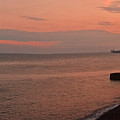 Brighton 2014 Sunset Looking From The Marina West by Simon Kennedy