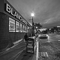 Brighton Ave Packard's Corner Allston Ma Sidewalk Black And White by Toby McGuire