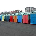 Brighton Beach Huts by Maria Joy
