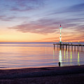 Brighton Beach Sunset by Ray Warren
