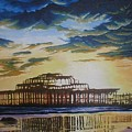 Brighton West Pier by Pauline Sharp